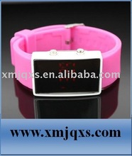 Pink LED Sport Silicone Watch