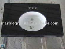 Black Granite Single Sink Bathroom Countertop