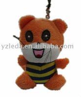 plush cat keyring stuffed animal toy