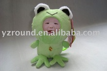 frog DIY 3D face doll plush toy