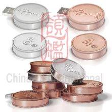 metal alloy Coin usb flash memory, customize coin shape usb flash memory
