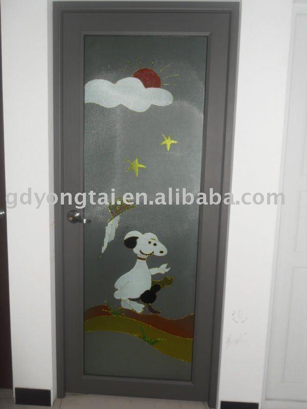 Interiores de metal puertas de vidrio puertas - Puertas de vidrio para interiores ...