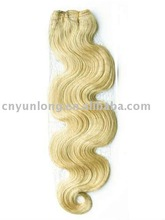 Best selling white blonde 613 human hair wave,hair extension
