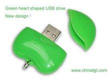 heart shaped usb flash memory 4GB 8GB 16GB