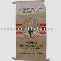 kraft paper laminated pp woven cement valve bag
