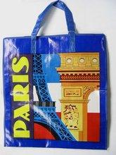 laminated printed pp woven non woven shopping bag handle foldable bag