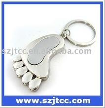 Jewelry Foot Shape USB Flash Drive Memory, Jewelry USB Chain, Crystal USB