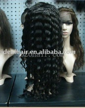 Natural virgin hair kinky curl lace wigs accept sample order