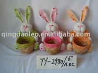 staw rabbit with basket