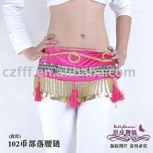 nylon rose belly dance coin belt