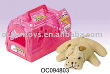Hot Selling Lovely Plush Dog and House, Animal Toy (OC094803)
