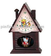 New Alarm Desk & Table Clock-Plastic Mini House Shaking