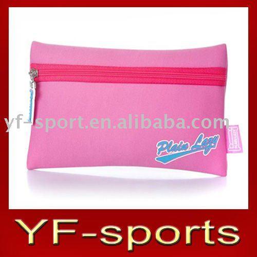 Classic Neoprene Girls Pencil Case - Hot Pink