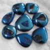 C269 plated Mysterious Agate Druzy drusy Cabochon semi-precious gemstone