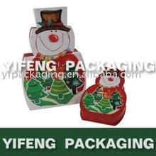 color printing chocolate box snowman shape