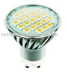 230V 21 smd 5050 GU10 led socket light with cover (GU10-5021C)