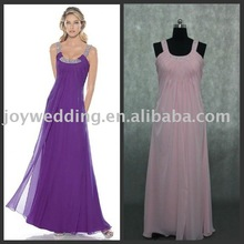 BD0480 FREE shipping Real samples chiffon gradual change two-tone color party dress night pink night dress