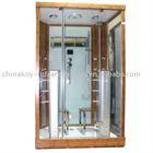 bamboo infrared steam shower, shower bath, steam bath with sauna