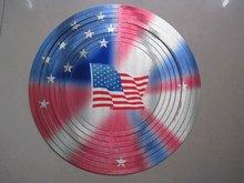 American flag design metal wind spinner WWS142