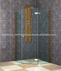 Corner bamboo shower column shower door