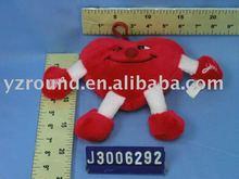 Valentines red sweet plush apple&strawberry pendant toy