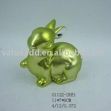 2012 ceramic easter bunny figurine