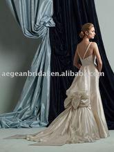 Cheap wedding dress /top welcomed princess long tail champagne designer wedding dress M2400