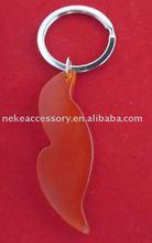 imitation jade stone leaf shaped key holder