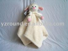 Children blanket with rabbit toy