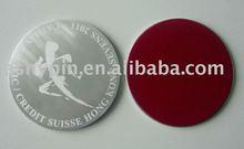 aluminum lasering cup pad/soft PVC coaster/cup mat