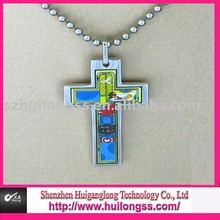 steel religious cross necklaces pendants