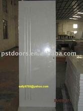 Flush Steel Door With Wood Edge, Prime Steel Moulded Panel Door With Glass(0086-13450279765)
