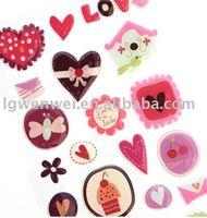 Epoxy gel sticker love shape fashion design