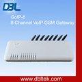 8 canales gsm a través de internet terminal inalámbrico fijo gsm voip gateway goip ( goip - 8 )