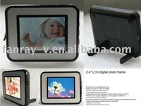 Fashion design 2.4 inch LCD digital picture frame