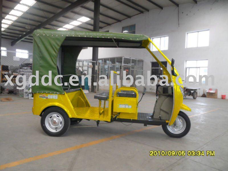 Electric passenger three wheel scooter