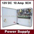Dvr cctv cámara de seguridad fuente de alimentación - 12 V dc 10a 9ch