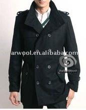 Men's Woolen Long Overcoat