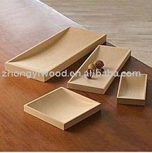 elegant design snack trays made of wood