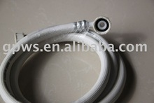 PVC inlet hose with connector, washing machine inlet hose.