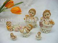 polyresin baby bathe figurine series