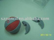 3D eraser and puzzle eraser of basketball shaped eraser
