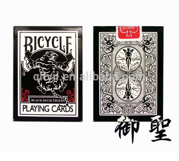 Bicycle Black Tiger Playing