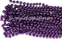 8mm 3feet purple round beads wedding decoration