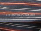 organic cotton knit stripe for t-shirt fabric