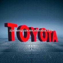 polyester resin lighted letter