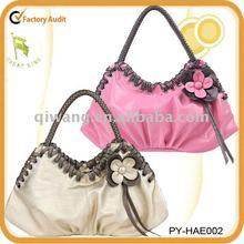 lady fashion handbag with flowers design