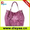 2011 summer style elegant PU tote bag genuine leather