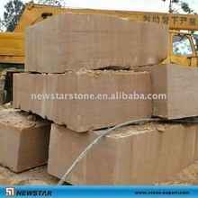 yellow wooden sandstone in block