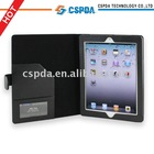 classical PU Leather case for ipad 2 with folder and snap-on design